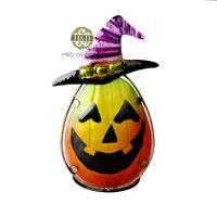 Cheap Hat Pumpkin Candle Holiday Metal&Glass Ghost Tea Light Candle Holder Candlestick Halloween Decoration