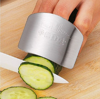 Wholesale 2016 Stainless Steel Metal Finger Guard Protector Kitchen Knife Chop Cook Cut High quality