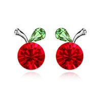 begonia plants - Factory Begonia fruit earrings Crystal earrings Korean temperament European and American fashion jewelry explosion mod