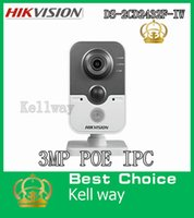 Wholesale Hikvision IP camera DS CD2432F IW MP IR Cube Network Camera Infrared camera IR meters POE IP66