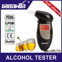 Wholesale Factory Outlets mouthpiece Digital LCD Backlit Display Key Chain Tester Alcohol Breath Analyzer Digital Breathalyzer Alcohol Monitor
