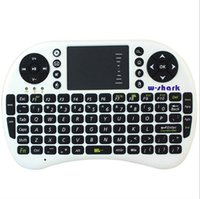 Wholesale 2 GHz AC Wireless Keyboard Mini Touchpad and Mouse Multi media Touchpad Function For Android TV BOX Mini PC Laptop