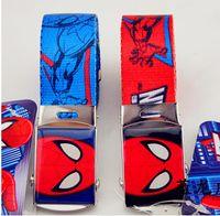 Wholesale New Children Boy Girl Spider Man Printing BELT Boy Girl Cartoon Printing Baby Belts Buckles Casual Nice Belts Buckles V1B32A