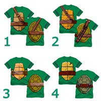 Wholesale Summer Teenage Mutant Ninja Turtles Boys Short Sleeve Cartoon Tshirts Children cotton tees tops kids clothes boys tshirt