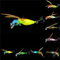 bass fish types - 1pcs Cicada Baits Fishing Lures Bass Crank Float artificial bait cm Hook type Fishing tackle Accessories