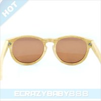 Wholesale Natural Bamboo Glasses Wood Mirror Frame Sunglasses Anti Solor UV400 Sunglasses Travel Outdoor Sunglasses