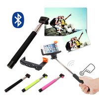 Wholesale Wireless Bluetooth self timer Adjustable bracket Extendable Selfie Monopod Stick Take With shutter For iOS Android Smartphone