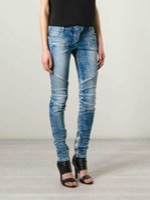 100 cotton jeans for women - BALMAIN WOMEN STRETCH BIKER SKINNY JEANS FOR WOMEN PANTS FASHION GIRL DENIM PANTS SLIM JEANS LADIES