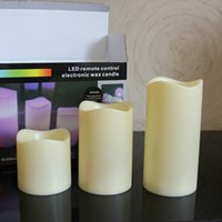 Wholesale Wholesales Flameless LED Candles Night Rechargeable Candle For Party Electronic Candle Lamps Decorative Wedding Candles LT0017 Kevinstyle