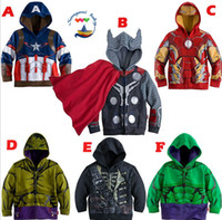 avengers jacket - The Avengers costume for kids boy thor hulk Iron Man jacket children hoodies sweatshirt boys Girls Spring Autumn Coat Kids Long Sleeve