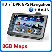 automotive video recorder - HD inch Car DVR GPS Navigation Video Recorder Camcorder Bluetooth AV IN VehicleGPS Navigator Dual Core MHZ CPU GB Flash Maps