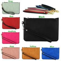 Wholesale New Arrivals Lady Women Messenger Wristlet Clutch Coin Bag Purse Zip Wallet Handbag PU Leather Fashion Retro Size CM BX224 Free Shippin