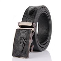 animal jeans - Genuine Leather Handcrafted crocodile Belts For Men High Quality Cowhide New Mens Belts Luxury Jeans Belt Black Ceinture Designer belts