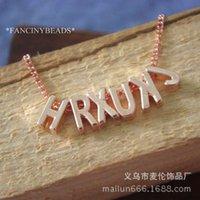 az charms - Factory alphabetical AZ hole diameter mm diy handmade jewelry accessories material alloy