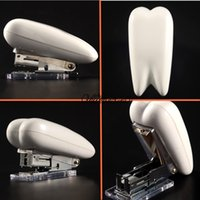 Wholesale 2015 New Listing Tooth Shape Stapler Dental Stationary Dental Stapler Quality Guarantee Sale Promotion