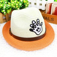 Cheap best selling new children Straw hat fashion Metal buckle belt hat circumference toddler homburg outdoors sunscreen kids sun hat 1-5age
