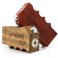 Cheap Vaporizer Tesla Invader II Wood Box Mod Invader 2 Invader V2 half Mechanical Mod E Cigarette Electronic Cigarette DHL Free