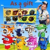 Wholesale 2016 New styles Super Wings toys Mini Planes cm Transformation Robot Action Figures toys baby toys for gifts
