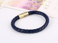 Wholesale Leather Bracelet Men Pulseira Masculina pulseras de piel Braccialetto di cuoio Magnetic Bracelet Deri Bileklik Pulseras Hombre