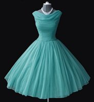 tea length bridesmaid dresses - 1950 s s Vintage Bridesmaid Dresses Ball Gown Bateau Neckline Tea Length Prom Dresses Short Party Gowns Homecoming Graduation Dresses