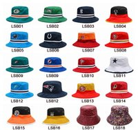 Wholesale Football Bucket Hats Cheap Fisherman Hats Sports Team Fishing Hat Cap Beach Hat Popular Headwears Many Styles Allow Mix Order