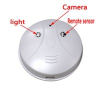 Wholesale Hot sale HD Cam Smoke Detector Security DVR Pinhole Camera Motion Detection Security Video Recorder Motion Detection frees shipping