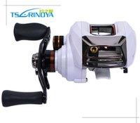 baitcaster bearings - Trulinoya New Arrival Bait Casting Fishing Reel Bearing Dual Cast Control Anti Backlash Salt Water Right Hand Baitcaster