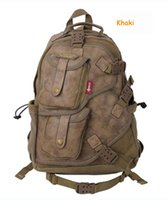 aerlis bag - Aerlis canvas travel sports backpacks Multifunctional inch laptop bags for men Black Khaki Army Green