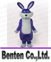 easter bunny costumes - SUPER PURPLE BUNNY EASTER THERMOLIT MASCOT HEAD Costume LLFA2176F