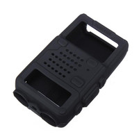 Wholesale Black Silicone Rubber Material Soft Protective Case Cover for Walkie Talkie UV R UV RA UV RB UV RC Series x x3 cm
