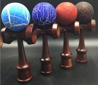 age coppers - kendama dark handle with cracked ball professional game Copper color handle Game Toys Balls for all ages