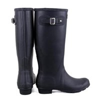 Wholesale Brand New Women Fashion Rubber Rain Boots Knee high Waterproof Rainboots Tall Water Shoes Wellies Good Quality
