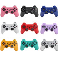 Wholesale 2015 New Wireless Bluetooth Controller For PS3 SixAxis Joystick Joysticks In Blue Retail Packaging With Retail Box