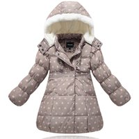 Wholesale New Girls Warm Coat Baby Winter Long Sleeve Flower Down Jacket Children Cotton padded Clothes Kids Christmas Outwear