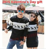 couples sweater - 2015 Men Sweater With Deer Print Couple Matching Christmas Sweaters Reindeer Pullover Knitted Fashion Polo Ugly Sweater
