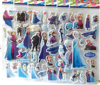 baby nursery murals - Cartoon frozen sticker elsa anna party decoration classic toys for children baby toys new popular items