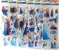 al por mayor artículos para bebés congelados-juguetes clásicos de la historieta pegatina congelado decoración del partido elsa Anna para los juguetes los niños del bebé 2014 nuevos artículos populares 100pcs / lot