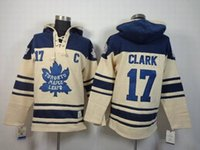 Wholesale Wendel Clark Cream Sweater Brand Hockey Pullover Toronto Team Hooded Hoodies Sweatshirts for Men Athletic Ouddoor Apparel
