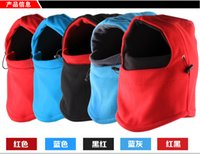 Wholesale 100pcs New Fleece Cycling Wind Mask Multi function Thermal Fleece Balaclava Full Face Masks Outdoor Sports Ski Protection Hood Headgear A