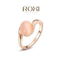 Cheap FG ROXI Brand 2015 Free Shipping Ellipse Opal Ring Rose Gold Wedding Rings For Men And Women Korean Fashion Jewelry 2010433200b