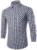 casual shirts for men - NEW Men s shirt Men s Casual slim Long Sleeve Fashion plaid pattern Shirts Dress Shirts For Mens Business Shirts c805