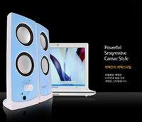 Wholesale speaker CMK USB Black Pink Blue White USB System Power Wired Computer Speakers Music Player for Desktop PC Laptops