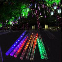 Wholesale Meteor Shower Rain LED Light Tubes V EU US Plug Christmas Outdoor Lights cm cm Tube Waterproof Party Xmas Fairy Led Light