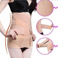 Women banded waist tops - Postpartum Recovery Belt Abdomen Stomach Elastic Pelic Sets Waist Cinchers Body Shapers Slimming Waist Belly Band Shapewear