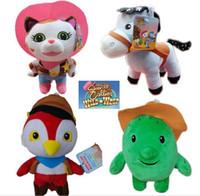 Wholesale HOT SET Sheriff Callie s Wild West plush doll baby toys funny cat Sheriff horse FEDEX