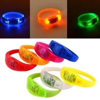 Other activate tv - Voice Control LED Light Bracelet Bangle Sound Activated For Party Rave Concert