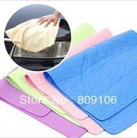 Wholesale retail deerskin towel car wash cleaning towels pva chamois absorbent dry hair towel30 cm