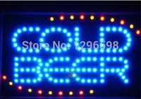 Wholesale 2016 New arrival Graphics X27 Inch COLD BEER BAR Shop Led Animated Motion Neon Sign