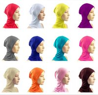 Wholesale Muslim Women s Cotton Full Cover Inner Hijab Caps Islamic Hats Under scarf