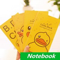 Wholesale 24 Little yellow duck Notebook diary book notepad for planner journal kawaii stationery office School supplies